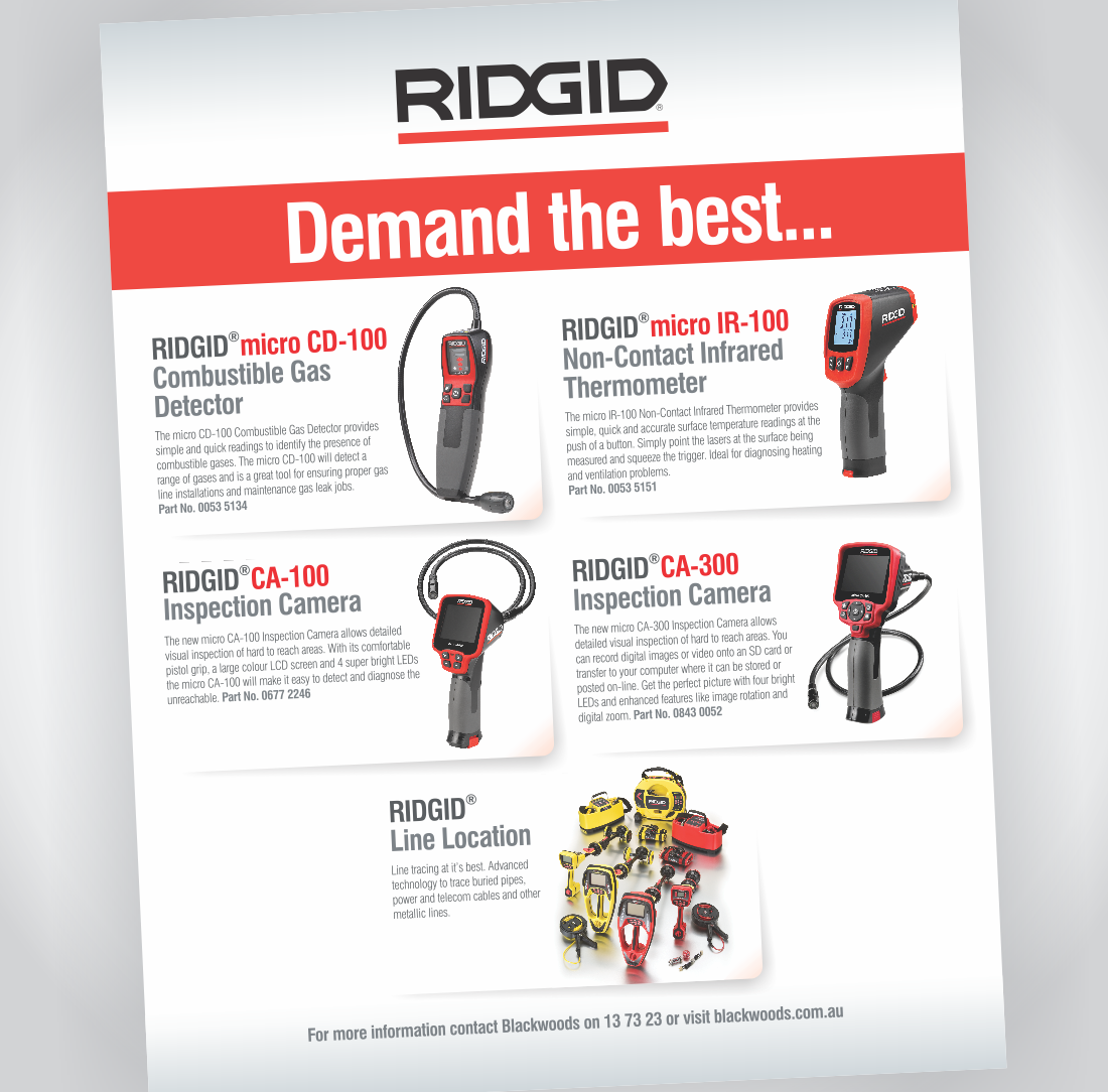 RIDGID Magazine Advertisement