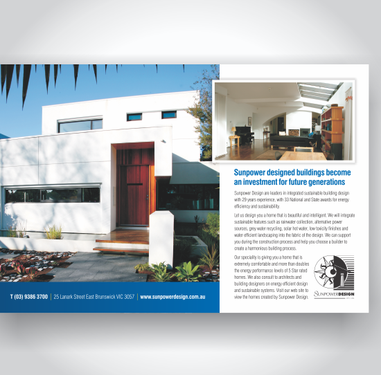 Sunpower Design Magazine Advertisements