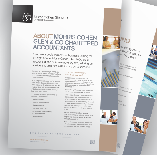 Morris Cohen Glen & Co Corporate Brochures